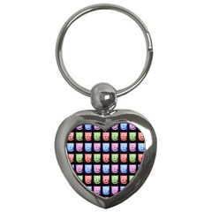 Email At Internet Computer Web Key Chains (Heart)