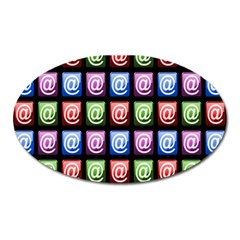Email At Internet Computer Web Oval Magnet