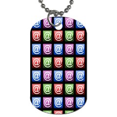 Email At Internet Computer Web Dog Tag (two Sides)
