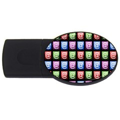 Email At Internet Computer Web Usb Flash Drive Oval (2 Gb)