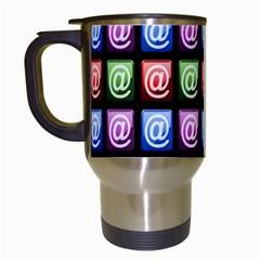 Email At Internet Computer Web Travel Mugs (White)