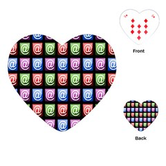 Email At Internet Computer Web Playing Cards (Heart)
