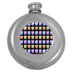 Email At Internet Computer Web Round Hip Flask (5 oz)