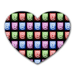 Email At Internet Computer Web Heart Mousepads
