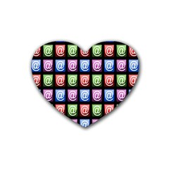 Email At Internet Computer Web Heart Coaster (4 pack)