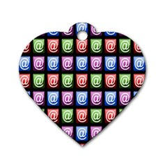 Email At Internet Computer Web Dog Tag Heart (one Side)