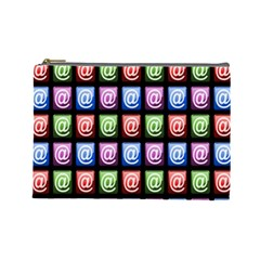 Email At Internet Computer Web Cosmetic Bag (Large)