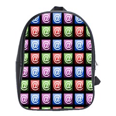 Email At Internet Computer Web School Bags(Large)