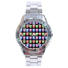 Email At Internet Computer Web Stainless Steel Analogue Watch