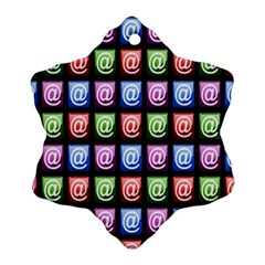 Email At Internet Computer Web Ornament (Snowflake)