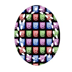Email At Internet Computer Web Oval Filigree Ornament (Two Sides)