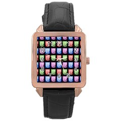 Email At Internet Computer Web Rose Gold Leather Watch