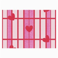 Fabric Magenta Texture Textile Love Hearth Large Glasses Cloth (2 Side)
