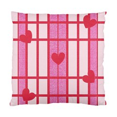 Fabric Magenta Texture Textile Love Hearth Standard Cushion Case (Two Sides)
