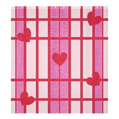 Fabric Magenta Texture Textile Love Hearth Shower Curtain 66  x 72  (Large)