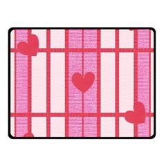 Fabric Magenta Texture Textile Love Hearth Fleece Blanket (Small)