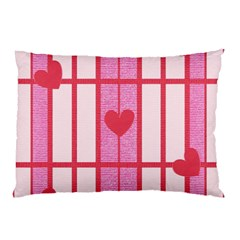 Fabric Magenta Texture Textile Love Hearth Pillow Case (Two Sides)