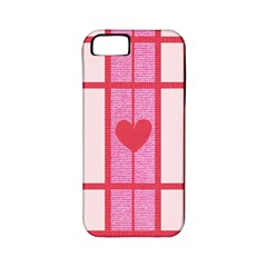 Fabric Magenta Texture Textile Love Hearth Apple Iphone 5 Classic Hardshell Case (pc+silicone)