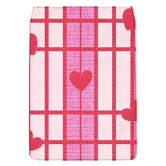 Fabric Magenta Texture Textile Love Hearth Flap Covers (s)