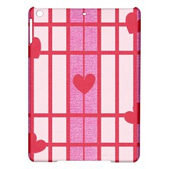 Fabric Magenta Texture Textile Love Hearth iPad Air Hardshell Cases