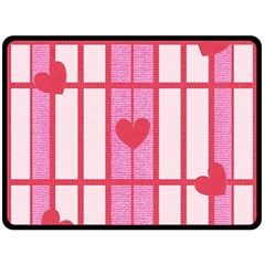 Fabric Magenta Texture Textile Love Hearth Double Sided Fleece Blanket (Large)