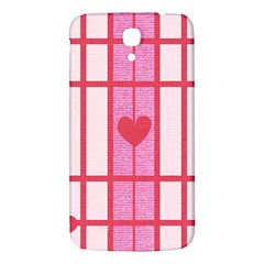 Fabric Magenta Texture Textile Love Hearth Samsung Galaxy Mega I9200 Hardshell Back Case