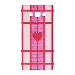 Fabric Magenta Texture Textile Love Hearth Samsung Galaxy A5 Hardshell Case