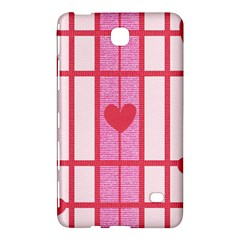 Fabric Magenta Texture Textile Love Hearth Samsung Galaxy Tab 4 (8 ) Hardshell Case