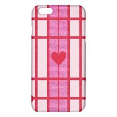 Fabric Magenta Texture Textile Love Hearth Iphone 6 Plus/6s Plus Tpu Case