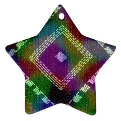 Embroidered Fabric Pattern Ornament (star)