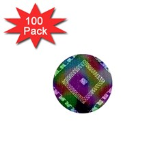 Embroidered Fabric Pattern 1  Mini Magnets (100 Pack)