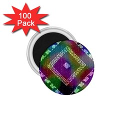 Embroidered Fabric Pattern 1.75  Magnets (100 pack)