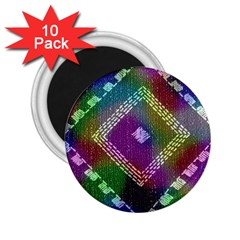 Embroidered Fabric Pattern 2.25  Magnets (10 pack)