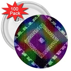 Embroidered Fabric Pattern 3  Buttons (100 pack)