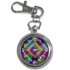 Embroidered Fabric Pattern Key Chain Watches