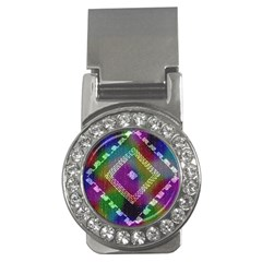 Embroidered Fabric Pattern Money Clips (cz)