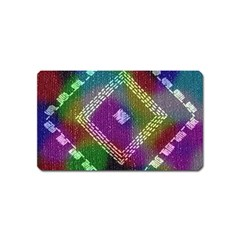 Embroidered Fabric Pattern Magnet (Name Card)