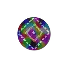 Embroidered Fabric Pattern Golf Ball Marker (4 pack)