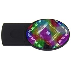 Embroidered Fabric Pattern USB Flash Drive Oval (2 GB)