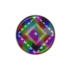 Embroidered Fabric Pattern Hat Clip Ball Marker (4 pack)