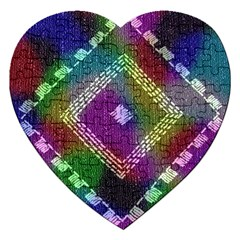 Embroidered Fabric Pattern Jigsaw Puzzle (Heart)