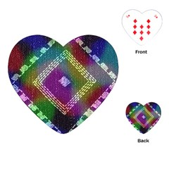 Embroidered Fabric Pattern Playing Cards (heart)