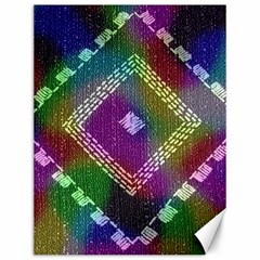 Embroidered Fabric Pattern Canvas 12  x 16