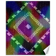 Embroidered Fabric Pattern Canvas 16  x 20
