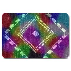 Embroidered Fabric Pattern Large Doormat