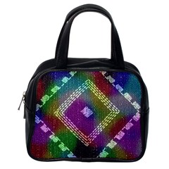 Embroidered Fabric Pattern Classic Handbags (One Side)