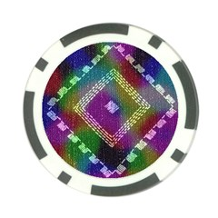 Embroidered Fabric Pattern Poker Chip Card Guard (10 pack)