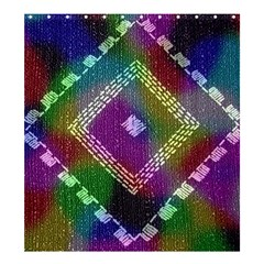 Embroidered Fabric Pattern Shower Curtain 66  x 72  (Large)