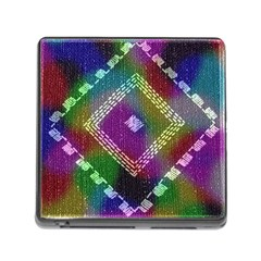 Embroidered Fabric Pattern Memory Card Reader (Square)