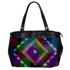 Embroidered Fabric Pattern Office Handbags
